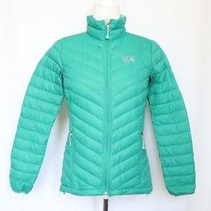 Mountain Hardwear Green Down 800 Fill Jacket XS
